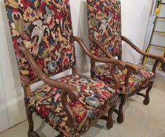 2-Deux fauteuils Louis XIII, os de mouton, Promo : 250 €