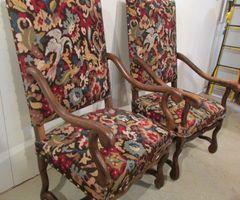 2-Deux fauteuils Louis XIII, os de mouton, vendus