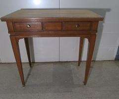 Table d'écriture , table d'appoint en chêne clair