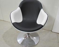 Fauteuil Design KOK bicolore, noir et blanc