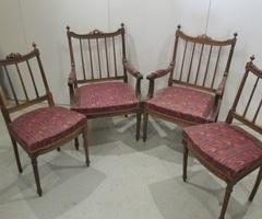 2 fauteuils et 2 chaises assorties, anciens , PROMO : 320 €