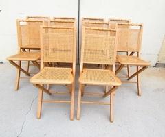Chaise pliante cannée , 5 pièces en stock , vendues