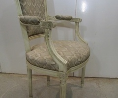 Fauteuil shabby chic, style LOUIS XVI