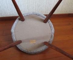 Chaise gondole vintage , en fourrure moumoute