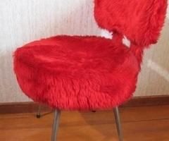 Petite chaise cocktail, moumoute vintage