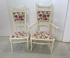 Fauteuil et chaise assortis , très tendance