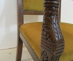 Fauteuil à crosse ancien de style Restauration, PROMO : 120 € , réservé