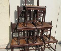 Lot de 6 chaises anciennes 1900 , vendues