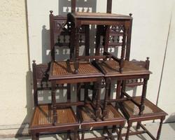 Lot de 6 chaises anciennes 1900
