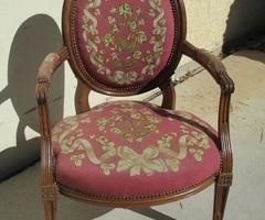 Fauteuil médaillon ancien Louis XVI , chevillé , vendu