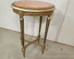 Console dorée ovale , style Louis XVI , PROMO : 150 €