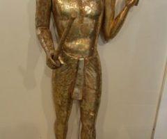 Statue egyptienne, grandeur nature dorée, PROMO , 50% : 200 €