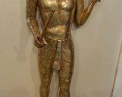 Statue egyptienne, grandeur nature dorée