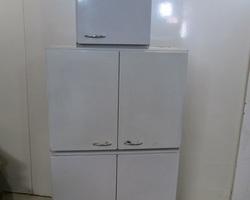 3 meubles métalliques à suspendre