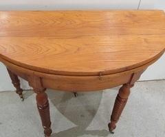 Table ronde demi-lune , console ancienne ,vendue