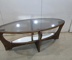 Superbe table basse ovale , très Design , vendue