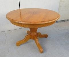 Table ronde quadripode en chêne extensible ,vendu