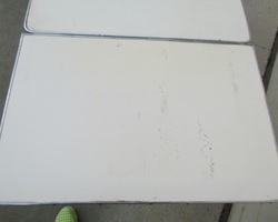 Authentique table vintage des années 50 , 2 allonges intégrées