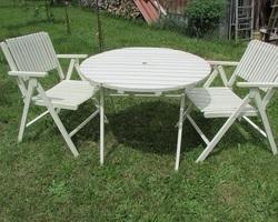 Table et 2 fauteuils de jardin pliants