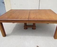 Grande table familiale de 2 mètres à 3,4 mètres en chêne,vendue