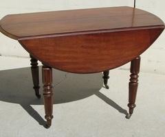 Petite table ronde en acajou extensible ,vendu