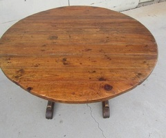 Petite table vigneronne ancienne , basculante