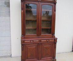 Bibliothèque 2 corps ancienne en acajou , PROMO : 700 €