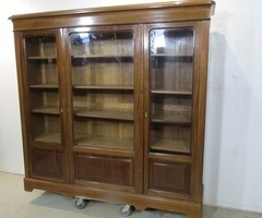 Bibliothèque vitrine en acajou ,vendu
