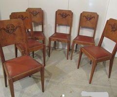 3-6 chaises Art-déco