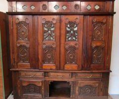 1-Vaisselier, bibliothèque,bahut revisité ,vendu