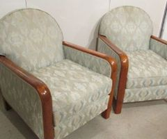 2 fauteuils art-déco d'époque