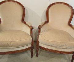 Paire de bérgères de style Louis XVI ,vendu