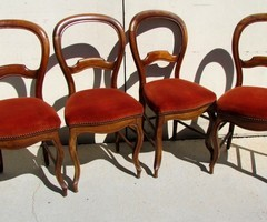 4 chaises L. Philippe, d'époque ,assise rembourée ,vendu