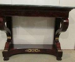 Ancienne console Restauration en acajou , vendu