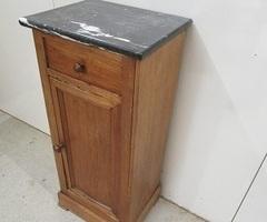 Chevet Louis Philippe, marbre noir