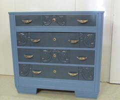 Grande commode art déco , bicolore bleue , vendu