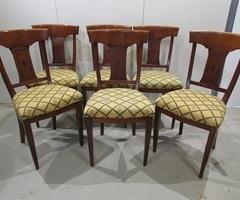 6 chaises de style Directoire en merisier , vendu