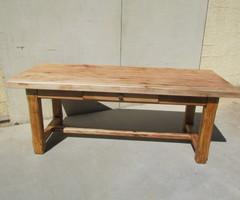 Table de ferme en chêne et hêtre