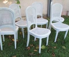 6 chaises cannées art-déco modernisées