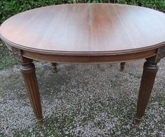 Table ovale art déco en acajou : 12 à 14 convives , vendu