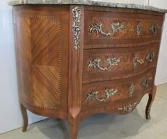 Commode galbée marquetée Style Louis XV ,vendu