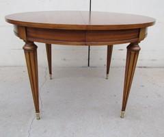 Table ronde de style Louis XVI , 3 allonges , vendu