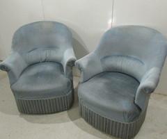 Paire de fauteuils crapaud , vendu