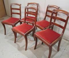 5 chaises style restauration ,vendu