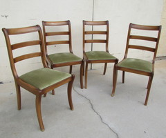 4 chaises restauration , vert olive , vendu