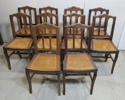 Série de 10 chaises cathédrales anciennes