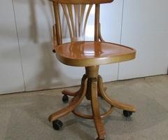 Chaise de bureau pivotante en bois