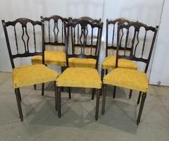 6 chaises en hêtre , dans le goût italien, vendu