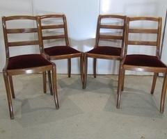 Lot de 4 chaises de style restauration ,vendu