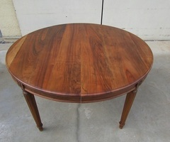 Table ovale art déco en noyer ouvrante ,vendu